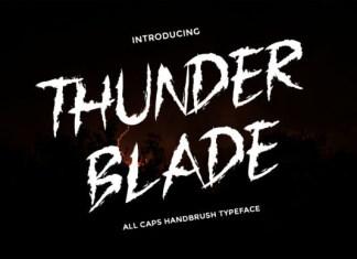 Thunder Blade Font