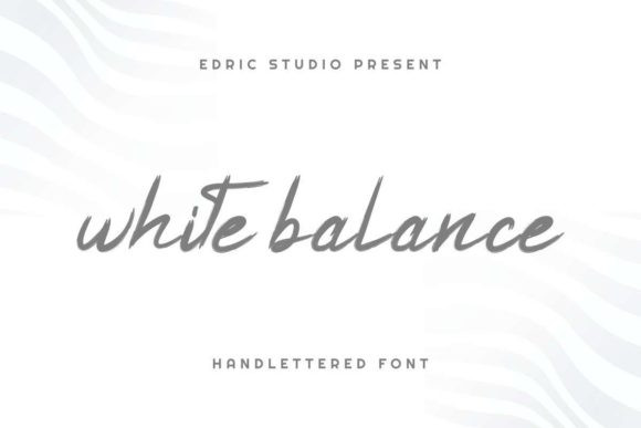 White Balance Font