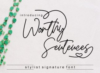 Worthy Sentences Font