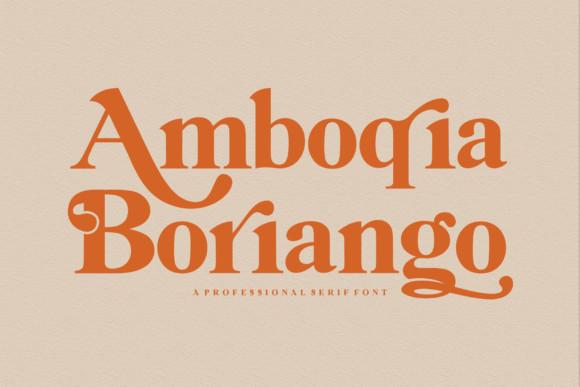 Amboqia Boriango Font
