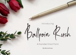 Ballpoint Rush Font
