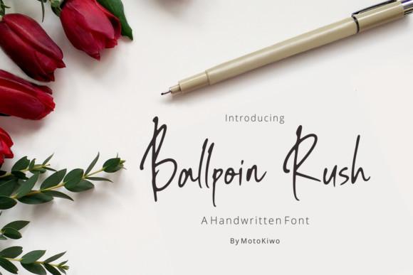 Ballpoin Rush Font