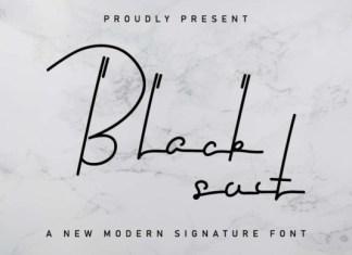 Black Suit Font