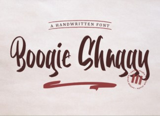 Boogie Shaggy Font