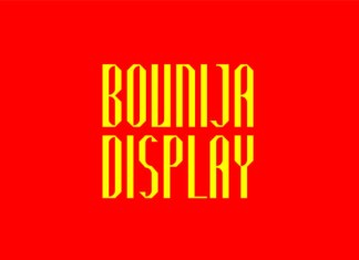 Bounija Display Font