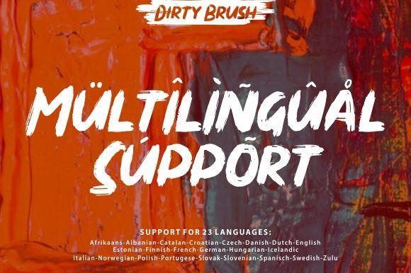 Dirty Brush Font