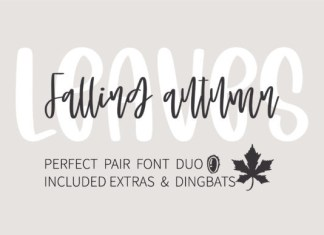 Falling Autumn Leaves Font