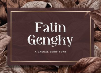 Fatin Gengky Font