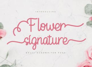 Flower Signature Font