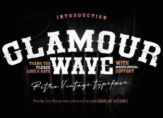 Glamour Wave Font