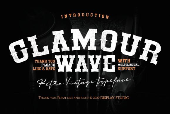 Glamour Wave Font