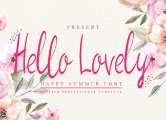 Hello Lovely Font