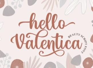 Hello Valentica Font
