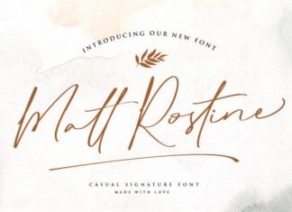 Matt Rostine Font