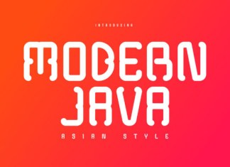 Modern Java Font