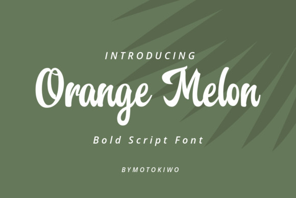 Orange Melon Font