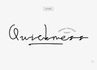 Quickness Font