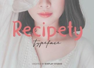 Recipety Font