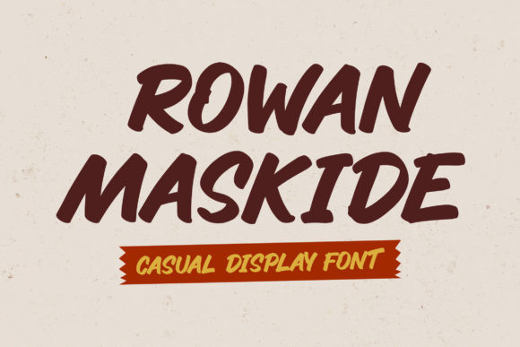 Rowan Maskide Font