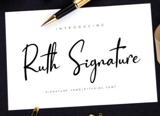 Ruth Signature Font
