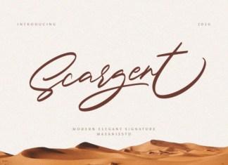 Scargent Font