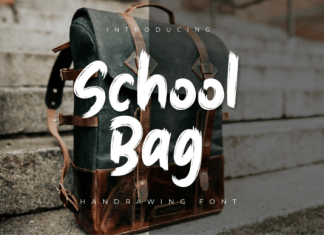 School Bag Font
