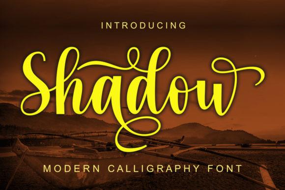 Shadow Handwritten Font