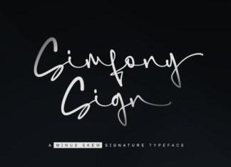 Simfony Sign Font