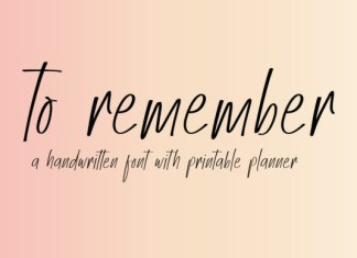 To Remember Font