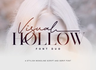 Visual Hollow Font