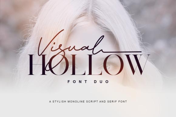 Visual Hollow Font