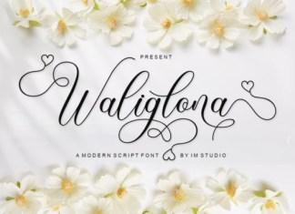 Waliglona Handwritten Font