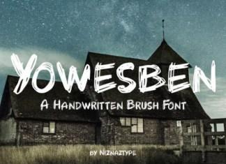Yowesben Font