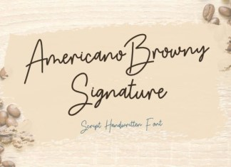 Americano Browny Font