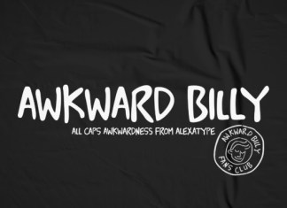 Awkward Billy Font