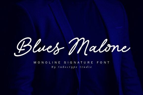 Blues Malone Font
