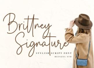 Brittney Signature Font