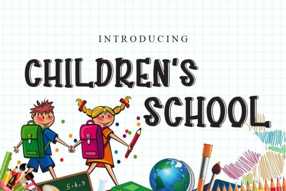 Children's School Font