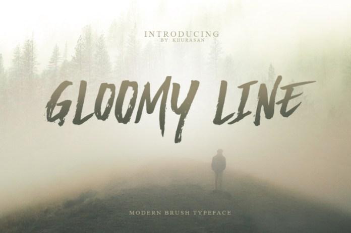 Gloomy Line Font