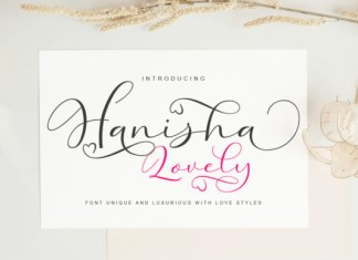 Hanisha Lovely Font