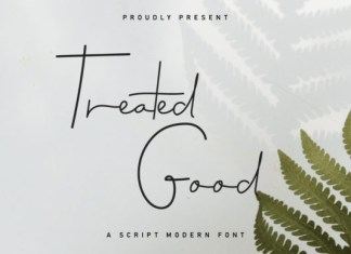 Treated Good Font
