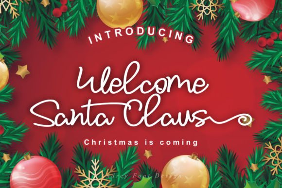 Welcome Santa Claus Font