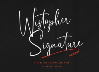 Wistopher Signature Font