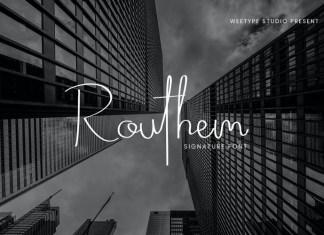 Routhem Font