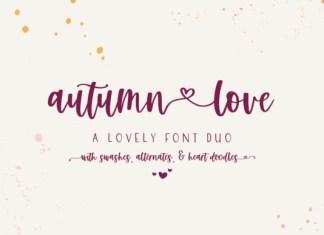 Autumn Love Duo Font