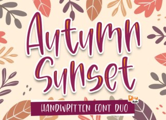 Autumn Sunset Font