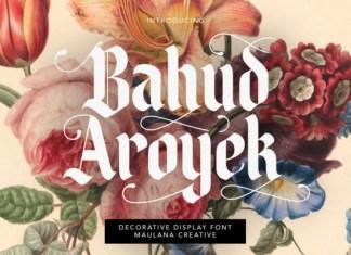 Bahud Aroyek Font