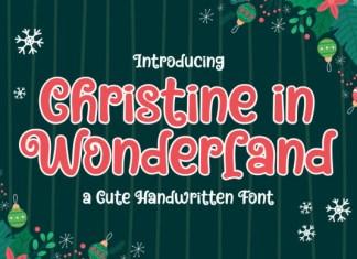 Christine in Wonderland Font