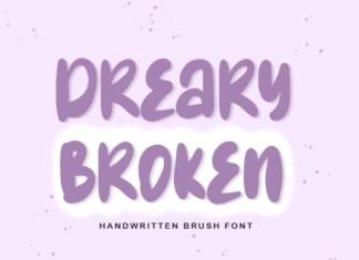 Dreary Broken Font