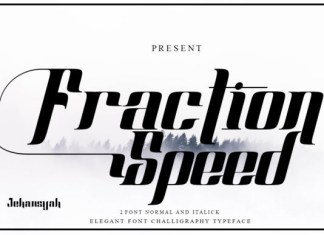 Fraction Speed Font